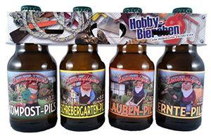 Garten Bier im witzigen Hobby Motiv 4er Träger (8,33 EUR / l)