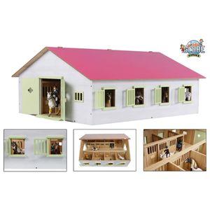 Kids Globe Spielzeug-Pferdestall mit 7 Boxen 1:24 Rosa 610189