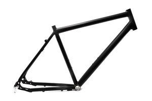 28 Zoll Alu Fahrrad Rahmen Herren Trekking Disc Scheibenbremse Ketten Schaltung Rh 52cm schwarz matt