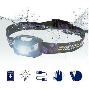 1000LM Super Hell USB Stirnlampe Kopflampe LED Taschenlampe Headlight Scheinwerfer Wasserdicht mit 18650