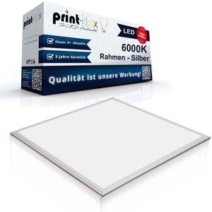 LED Panel Ultraslim 30 x 30cm Deckenlampe Einbaustrahler Lichtlampe 13 W 900 Lumen 6000 K-Kaltweiß Silberrahmen - Office Pro Serie
