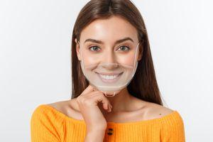 5 Stück Safety Gesichtsschutzschild Transparent Kunststoff Visier Gesichtsschutz Anti-Fog Anti-Öl Splash Transparent Schutzvisier - Essen Hygiene Spezielle Anti-Saliva Gesichtsschutzschirm