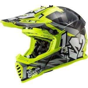 LS2 MX437 Fast EVO Mini  Crusher schwarz / neon-gelb M
