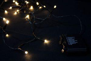 Lichterkette 48 LED für innen außen Batterie Betrieb Timer