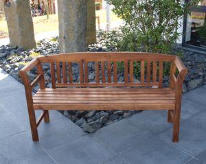 TPFGarden® Gartenbank / Holzbank ROSALI 157cm 3-sitzer aus Akazie massiv   Holz von höchster Qualität   Farbton: Akazie Braun   -   1 Stück
