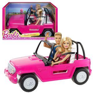 Mattel CJD12 - Barbie - Beach Cruiser mit Barbie und Ken; Fahrzeug