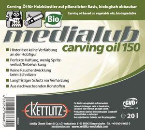 KETTLITZ-Medialub Carving Oil 150 -Kettenöl für Holzschnitzer - Kanister 20 Liter