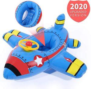 Baby Aufblasbare Schwimmringe, Flugzeug Yacht Kleinkind Schwimmen Schwimmsitz Boot Pool Ring für Baby Kinder 6 Monate bis 60 Monate