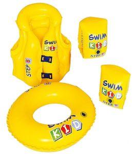 Schwimmhilfe-Set für Kinder mit Schwimmweste, Schwimmreifen und Schwimmflügeln