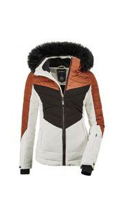 Killtec - Damen Jacke in Daunenoptik mit abzippbarer Kapuze und Schneefang, Atka WMN Quilted Ski JCKT A (35686), Größe:36, Farbe:Gebranntes Rot (00471)