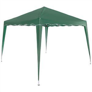 Pavillon 3x3m UV-Schutz 50+ wasserdicht faltbar inkl. Tasche Faltpavillon Capri Partyzelt Gartenpavillon Pop Up Zelt, Farbe:grün