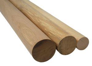 Hilwood - Rundstab Rundstäbe Eiche Massivholz Holz, Ø 100 mm