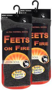 Stark Soul® Thermo Socken  2er Pack FEETS on FIRE 41-45 Grau