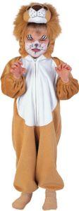 Löwe Katze Plüsch Overall Kinder Karneval Fasching Kostüm 104