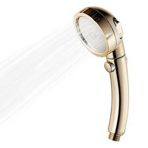3 Sprueheinstellungen Duschkopf mit EIN / AUS-Pausenschalter Wassersparender Hochdruck-Handbrausekopf G1 / 2 Einstellbarer Badezimmer-Duschkopf Bad-Handbrausekopfwechsel