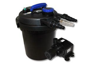 Druckfilter Set 6000l 11W UVC Teichklärer 65W Pumpe 501