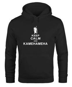 Hoodie Herren Keep Calm and Kamehameha Son Goku Dragonball Moonworks® schwarz L