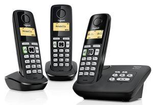 Gigaset Telefon AL225A, Schnurlos, AB, Trio, Farbe: Schwarz