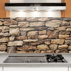 Fliesenbild Amerikanische Steinwand, Fliesengröße HxB:15cm x 15cm, Größe HxB:60cm x 120cm