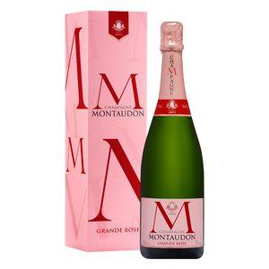Champagne Montaudon Grande Rose 75cl in Geschenkpackung