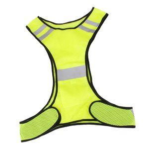 Reflektierende Warnweste Sicherheitsweste Unfallweste Sicherheitswarnweste Gelb Farbe Gelb