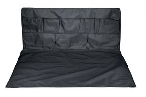 Kofferraum Schutzmatte + Kofferraum Organizer schwarz 2-teilig mit Taschen, wasserdicht, 110x155 cm, PKW Schutzmatte