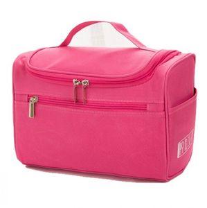 Art und Weise wasserdichte Damen Kosmetiktasche mit großer Kapazität Raumspeicherbeutel -(Rose rot,)
