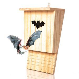 Fledermauskasten aus Naturholz - Fledermaushöhle   Fledermaushaus für den Garten - fertig montiert & zum aufhängen : Fledermaushotel Nistkasten Schlafplatz