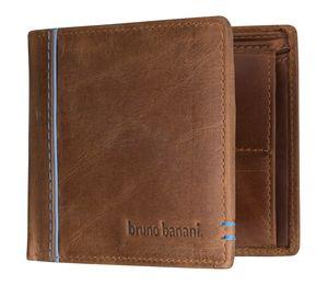 bruno banani Herren Geldbörse Portemonnaie Geldbeutel Cognac/Blau 5330