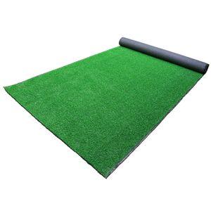 NEUFU Kunstrasen, 10mm Kunstr Rasen Gras Gartendekor Pflanzen Farbe: Smaragdgrün, 50cm x 50cm