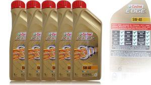 Castrol Edge  5W-40 5X 1 Liter