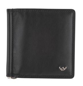 Golden Head Polo Money Clip Billfold Wallet Black