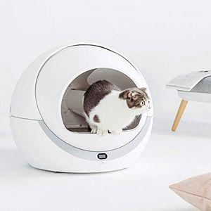 Petree Katzentoilette, selbstreinigend, automatisch, intelligent, Anti-Geruch, Anti-Staub, geräuscharm, Katzenklo, Cat Litter Box, Leicht zu Reinigen, Katzentoilette mit geschlossenem Innenraum