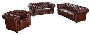 Max Winzer Norwin Sofa 3-Sitzer / Sofa 2-Sitzer / Sessel - Farbe: braun - Maße:  -  cm x 98 cm x 74 cm; 2909-901-9342001-F07
