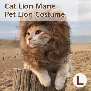 Katze Löwe Mähne Haustier Löwe Kostüm Haustier Löwe Haar Perücke für Hunde Katzen Haustiere Halloween Weihnachtsfeier Geschenk