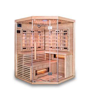 HOME DELUXE - Infrarotsauna SAHARA XXL mit Vollspektrumstrahler Infrarotkabine Wärmekabine Saunakabine Sauna