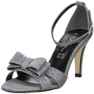 Vista Damen Sandaletten Glitzeroptik silber, Größe:40, Farbe:Silber
