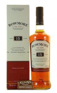 Bowmore 15 Jahre Islay Single Malt Scotch Whisky | 43 % vol | 0,7 l