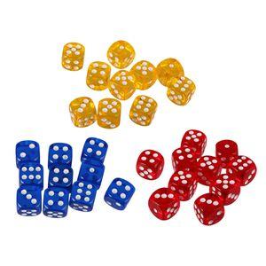 30er-Set D6 Würfel Spielwürfel Dice Punkt für Brettspiel