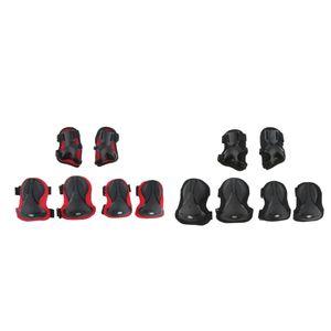 2 satz Erwachsene Knieschoner Ellenbogenschützer Handgelenkschoner Schutz Set für Rollschuhlaufen, Skateboards