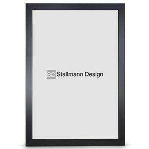 Stallmann Design Bilderrahmen New Modern 60x80 cm schwarz Rahmen fuer Dina 4 und 60 andere Formate Fotorahmen Wechselrahmen aus Holz MDF mehrere Farben wählbar Frame für Foto oder Bilder