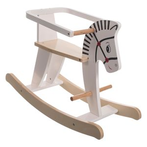 Bieco Schaukeltier Zebra 68x26,5x48cm   Schaukelpferd Baby   Schaukeltier Baby   Kinderschaukel Indoor   Baby Wippe   Baby Schaukel   Schaukelpferd ab 1 Jahr   Schaukel Baby Spielzeug ab 1 Jahr