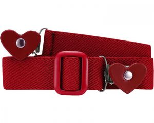 Playshoes Elastik-Gürtel Herz-Clip uni, Größe: 74-110, rot