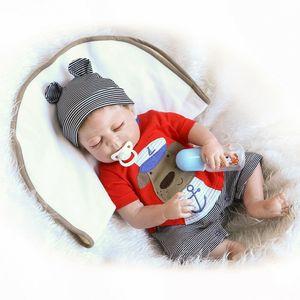 56cm Ganzkörper Silikon Vinyl Reborn Baby Puppen Realistische Neugeborene Junge