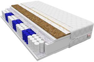 Matratze 160 x 200 cm VERONA 7 Zonen H3 H4 Taschenfederkern mit Kokos Höhe ca 17 cm