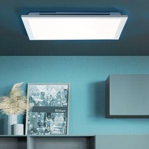 BRILLIANT ALLIE LED Deckenleuchte Aufbaupaneel Metall Kunststoff Weiß G96946/05 mit Fernbedienung