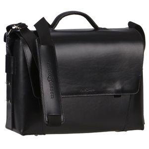 Ruitertassen Lehrertasche Aktentasche 40cm Leder 3-Fächer Schultasche schwarz 2178-11