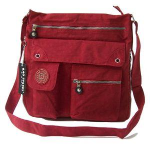 Tasche Umhängetasche Handtasche Bag Street Nylon Rot Damen Ta7053