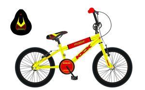 20 Zoll Kinderfahrrad Kinder Jungen Mädchen Jugend Fahrrad Kinderrad Bike Rad BMX MAGIC KICK GELB