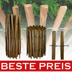 5 Meter Imprägniert Staketenzaun Haselnuss Holzzaun Latten Zäune Gartenzaun 90cm x 5m / 3-4